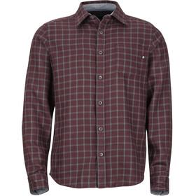 Marmot M's Fairfax Midweight Flannel LS Shirt Burgundy